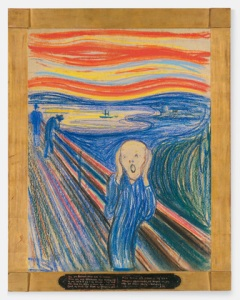 "....think Edvard Munch's famous painting - ""The Scream"""